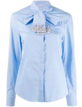 Embellished Tie Neck Shirt by Vivetta