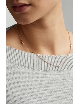 Nura Teardrop Mixed Station Diamond Pavé Necklace by Monica Vinader