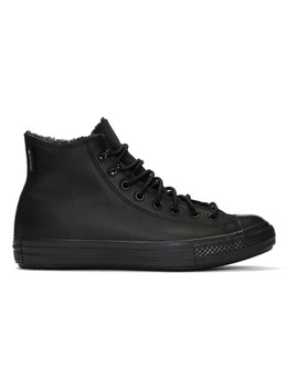 Black Winter Chuck Taylor All Star Sneakers by Converse