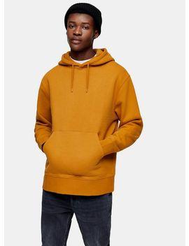 Mustard Classic Hoodie by Topman