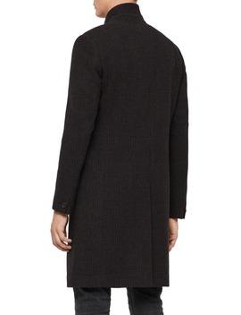 Burge Classic Fit Plaid Wool Blend Topcoat by Allsaints