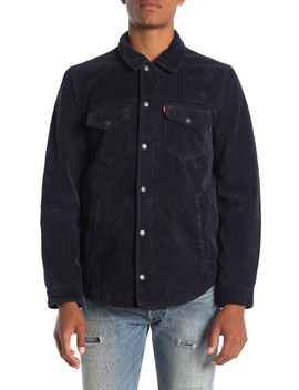 Faux Suede Shirt Jacket by Levi's