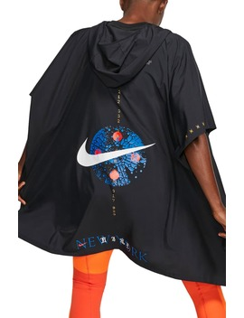 New York Water Repellent Hooded Running Poncho by Nike