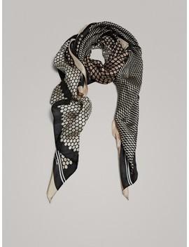 Diamond Print 100% Silk Scarf by Massimo Dutti