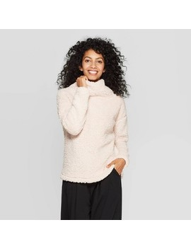 Women's Any Day Long Sleeve Turtleneck Sherpa Pullover   A New Day™ by A New Day