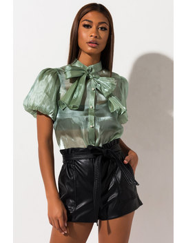 Good Things Balloon Sleeve Blouse by Akira