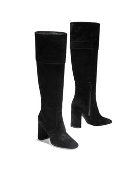 Women Cole Haan Knee High Boot Black Suede Cole Haan Tess Cuff New by Cole Haan