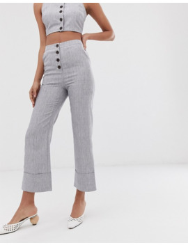 Fashion Union Button Front High Waisted Pants Two Piece by Fashion Union's