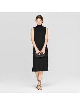 Women's Sleeveless Turtleneck Rib Knit Midi Dress   A New Day™ by A New Day