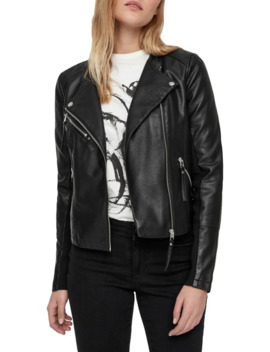 Ria Zip Front Moto Jacket by Vero Moda