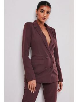 Tall Purple Co Ord Double Breasted Blazer by Missguided