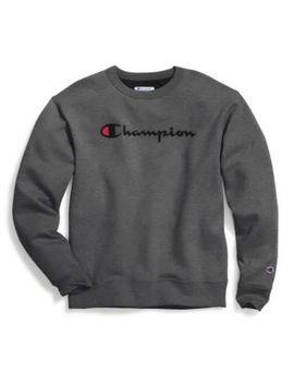 Champion Men's Powerblend® Crew, Script Logo by Champion