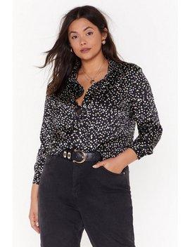 Feelin' Dot Plus Oversized Shirt by Nasty Gal