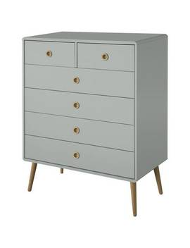 Argos Home Softline 4+2 Drawer Chest Of Drawers   Grey200/7874 by Argos