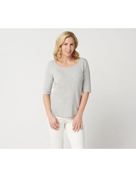 "<Div Class=""Pd Short Desc Label"">Make Your Selection:</Div> Linea By Louis Dell'olio Whisper Knit Scoop Neck Sweater by Qvc"