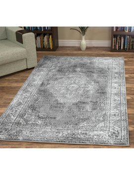 Wisser Vintage Traditional Gray Area Rug by Charlton Home