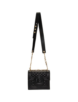 Black Cara Delevingne Edition Bbag 21 Bag by Balmain