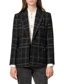 Jalou Windowpane Blazer by Sandro
