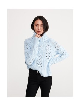 Turtleneck With Decorative Knit by Reserved