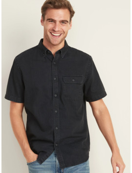 Slim Fit Black Jean Shirt For Men by Old Navy