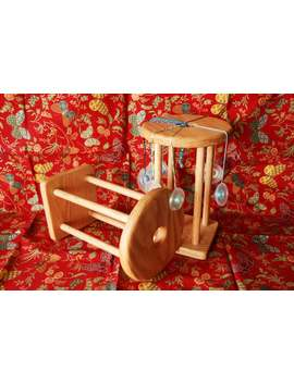 """12"""" Tall Marudai Kumihimo Loom Stand For Kumihimo Cord Braiding Jewelry Making Easy To Use Made Of Red Oak Hardwood Sturdy Durable 12 Inches by Etsy"""