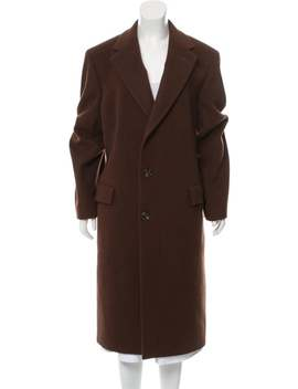 Notch Lapel Long Coat by Christian Dior