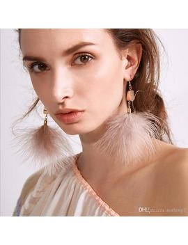 Designer Jewelry Acrylic Dangle Earrings Spar Feather Tassel Pendant Earrings Lightly Simple For Women Hot Fashion by D Hgate.Com