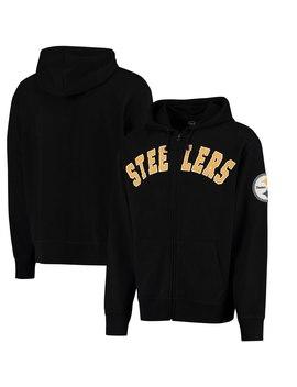 Pittsburgh Steelers '47 Striker Full Zip Hoodie   Black by '47