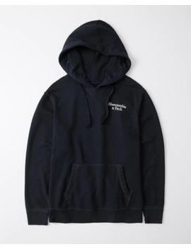 Exploded Logo Boyfriend Hoodie by Abercrombie & Fitch