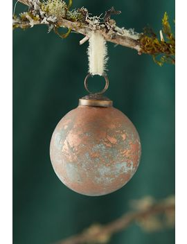 Copper Patina Globe Ornament by Anthropologie
