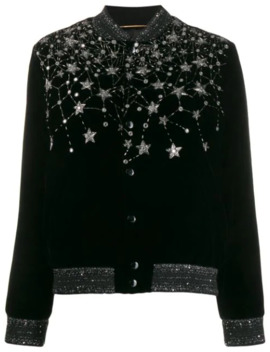 Crystal Embroidered Cardigan by Saint Laurent