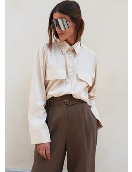 Blonde Cargo Silky Shirt by The Frankie Shop