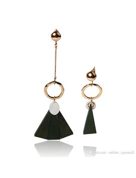 Hot Fashion Explosion Fashion Retro Asymmetric Variety Of Fashion Elements Earrings Triangular Personality Generous Temperament Earrings Jew by D Hgate.Com