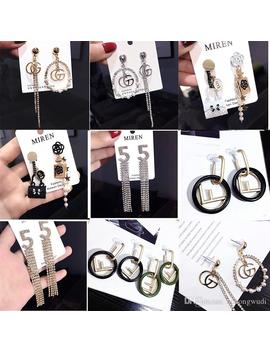 Variety Designer Earrings Fashion Women Earrings Number Letter Tassels Earrings Personality Luxury Crystal Stud Earring New Arrival by D Hgate.Com