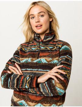 Billabong Cozy Mock Neck Half Zip Womens Sweatshirt by Billabong