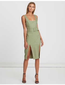 Darby Belted Dress by Bwldr