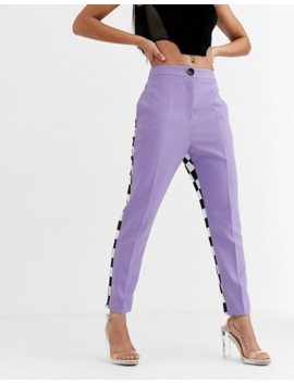 Asos Design X Christian Cowan Lilac Co Ord Suit Cigarette Pant by Asos Design