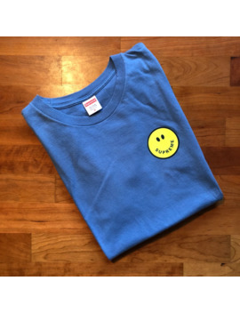 Supreme Whatever Tee Smiley Blue Medium by Supreme  ×