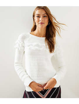Fringe Textured Sweater by Loft