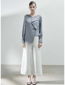 Asymmetrical Top With Fold Detail by Blancore
