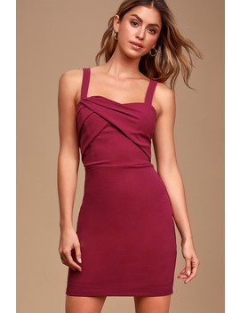 Sweetest Moments Magenta Ruched Bodycon Dress by Lulus