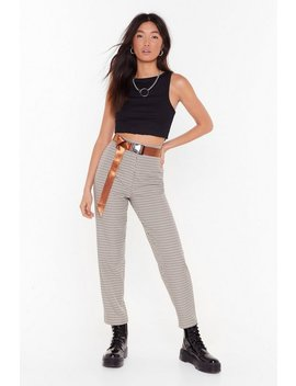 Hound To Happen Tapered Houndstooth Pants by Nasty Gal
