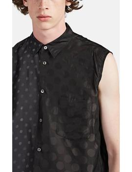 Polka Dot Layered Silky Twill Shirt by Comme Des Garçons