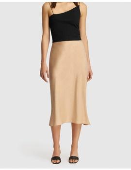 Paige Bias Midi Skirt by Friend Of Audrey