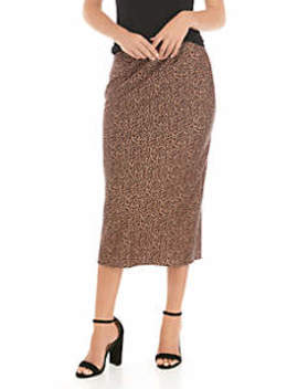 Satin Midi Skirt by The Limited