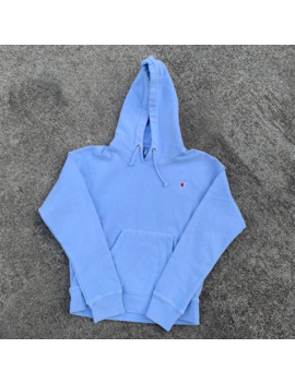 Baby Blue Champion Reverse Weave Hoodie Rare by Champion  ×