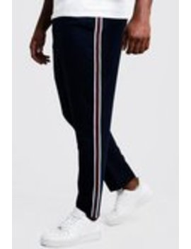Big & Tall Skinny Fit Woven Side Tape Jogger by Boohoo Man