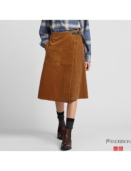 Women Corduroy Wrapped Skirt (Jw Anderson) by Uniqlo
