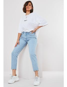 Tall Blue Riot High Waisted Distressed Waist Jeans by Missguided
