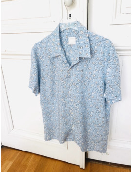 Blue Short Sleeves Shirt by Sandro  ×